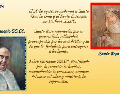 SANTA ROSA DE LIMA Y PADRE EUSTAQUIO SS.CC. 30 de Agosto